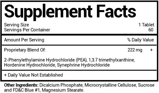 Phentramin-D Ingredients Label